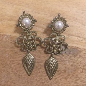 Charming Charlie's Pearl Statement Earrings